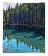 Emerald Mountain Pond Fleece Blanket