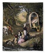 Emigrants: Appalachians Fleece Blanket