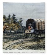 Emigrants To Ohio, 1805 Fleece Blanket