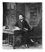 Emile Zola (1840-1902) Fleece Blanket