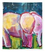 Emily's Elephant 1 Fleece Blanket