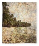 Empty Tropical Beach 2 Fleece Blanket