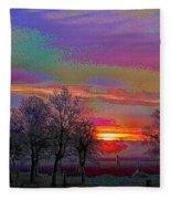 Enameled Sunrise Of Northern California Fleece Blanket