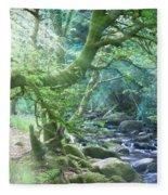 Enchanted Leprechaun Forest Fleece Blanket