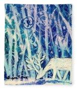 Enchanted Winter Forest Fleece Blanket