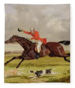 Encouraging Hounds Fleece Blanket