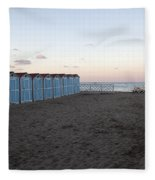 End Of Day - Mondello Beach Fleece Blanket