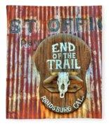 End Of The Trail Fleece Blanket