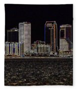 Energized Tampa - Digital Art Fleece Blanket