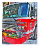 Engine 34 Readied Up Fleece Blanket