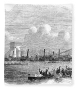 England: Boat Race, 1858 Fleece Blanket