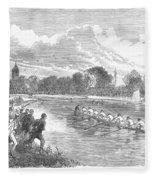 England: Boat Race, 1866 Fleece Blanket