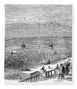 England: Brighton, 1853 Fleece Blanket