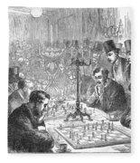 England: Chess Match Fleece Blanket