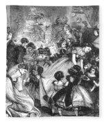England: Christmas Party Fleece Blanket