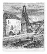 England: Coal Mining Fleece Blanket