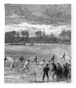 England: Foot Race, 1866 Fleece Blanket