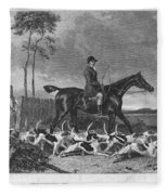 England: Fox Hunt, 1832 Fleece Blanket