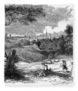 England: Manchester, 1842 Fleece Blanket