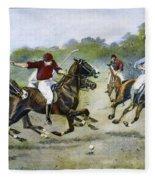 England: Polo, 1902 Fleece Blanket