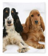 English Cocker Spaniels Fleece Blanket