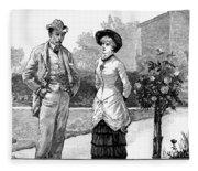 English Couple, 1883 Fleece Blanket