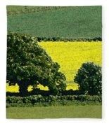 English Field Of Yellow 2 Fleece Blanket