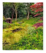 English Garden  Fleece Blanket