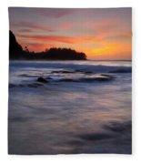 Engulfed By The Sea Fleece Blanket