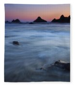 Engulfed By The Tides Fleece Blanket