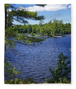 Enjoying The Lake Fleece Blanket