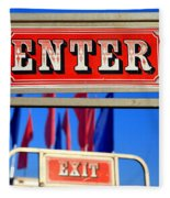 Enter And Exit Signs Fleece Blanket
