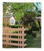 Entrance To A Victorian Garden Fleece Blanket