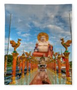 Entrance To Buddha Fleece Blanket