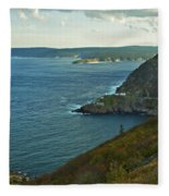 Entrance To St. John's Harbour Fleece Blanket