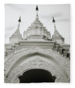 Entrance To Wat Suan Dok Fleece Blanket