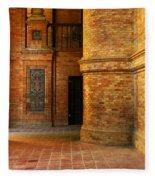 Entry To The Spanish Pavillion In Sevilla Spain Fleece Blanket