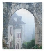 Entryway To St Cirq In The Fog Fleece Blanket