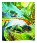 Envious Thoughts Abstract Fleece Blanket