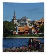 Epcot China And Norway Fleece Blanket