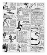Equestrian Equipment, 1895 Fleece Blanket