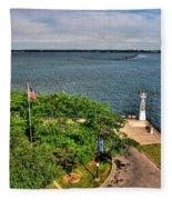 Erie Basin Marina Summer Series 0004 Fleece Blanket