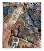 Erocean Rocks 1 Koh Kut Thailand Fleece Blanket