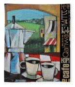 Espresso Coffee Languages Poster Fleece Blanket