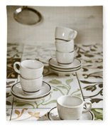 Espresso Cups Fleece Blanket