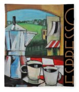 Espresso Poster Fleece Blanket