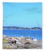 Esquimalt Lagoon Fleece Blanket