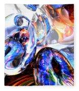 Essence Of Inspiration Abstract Fleece Blanket