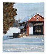 Essenhause Covered Bridge Fleece Blanket