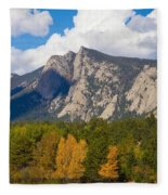 Estes Lake Autumn View  Fleece Blanket